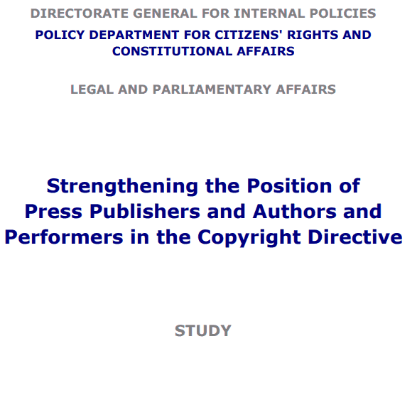 EP Study: © Reform Won't Cut It for Journalists & Creators