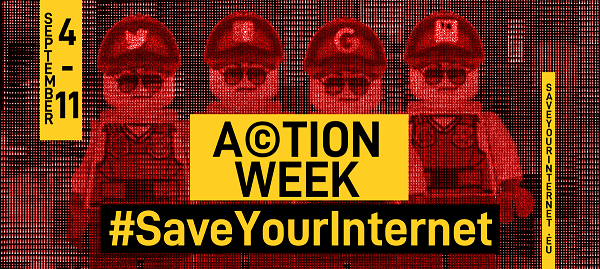 #SaveYourInternet Action Week – Day 4-8 Twitter Recap