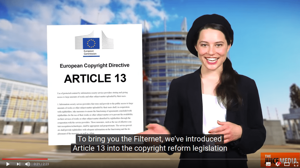 Article 13: even worse than the US DMCA takedown system